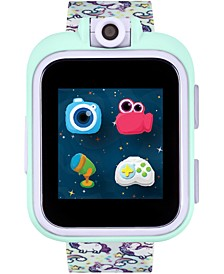 Kids PlayZoom Rainbow Unicorn Strap Touchscreen Smart Watch 42x52mm
