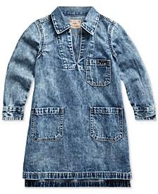 Toddler Girls Cotton Denim Dress
