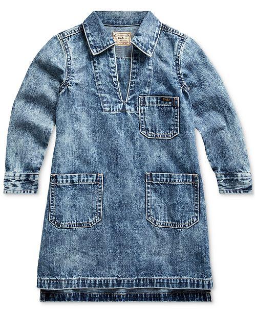 Polo Ralph Lauren Toddler Girls Cotton Denim Dress