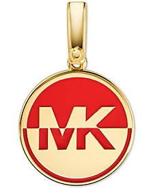 Two-Tone Logo Charm in Gold-Plate Over Sterling Silver