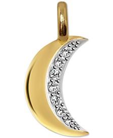 Diamond Mini Moon Charm Pendant (1/10 ct. t.w.) in 14k Gold