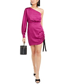 One-Shoulder Ruched Sheath Dress, Created for Macy's