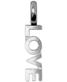 Mini Love Charm Pendant in Sterling Silver