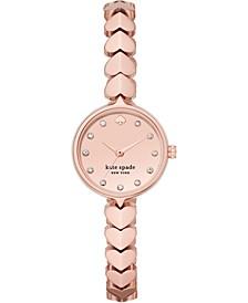 Women's Hollis Rose Gold-Tone Stainless Steel Bracelet Watch 24mm