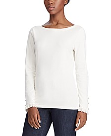 Ruffle Long-Sleeve Tee