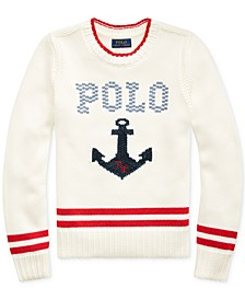 Big Girls Intarsia-Anchor Cotton Sweater