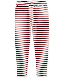 Big Girls Striped Stretch Cotton Jersey Legging