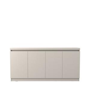 """Manhattan Comfort Viennese 62.99"""" 6- Shelf Buffet Cabinet In Off-white"""