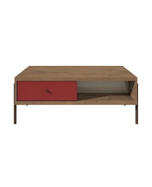 Manhattan Comfort Joy Double-Sided 2-Drawer End Table