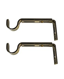 Home Fashions Sgle Wall Brackets for Rods
