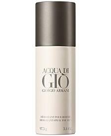 Acqua di Giò Pour Homme Deodorant Spray, 3.4-oz