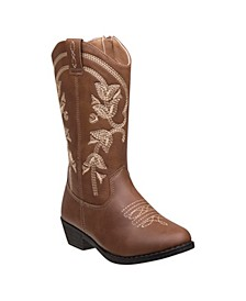 Little Girls Boots with Heel