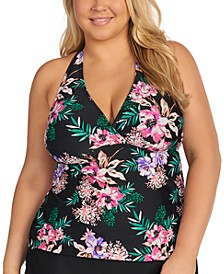 Trendy Plus Size In Your Dreams Underwire Tankini Top, Created for Macy's