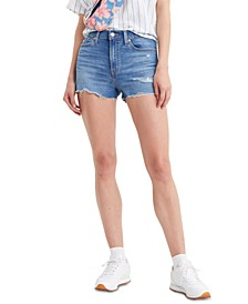 Women's High-Rise Distressed Shorts