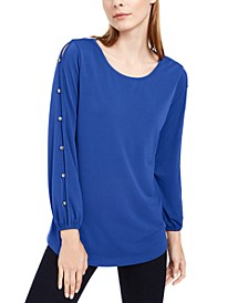 Petite Split-Sleeve Top