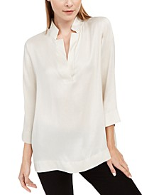 Silk 3/4-Sleeve Top
