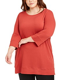 Plus Size Ballet-Neck Tunic