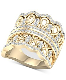 Diamond Crown Statement Ring (1 ct. t.w.) in 14k Gold