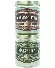 2-Pc. Margarita & Cosmopolitan Candle Gift Set