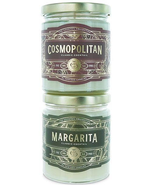 REWINED 2-Pc. Margarita & Cosmopolitan Candle Gift Set