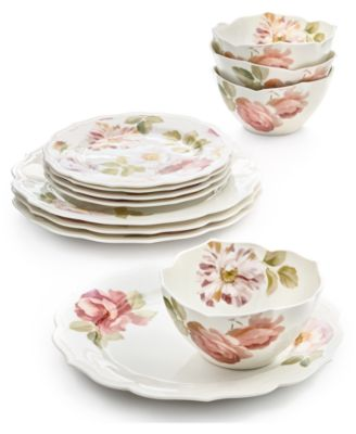 Classic Wild Rose 12-Pc. Dinnerware Set, Service for 4, Created for Macy's