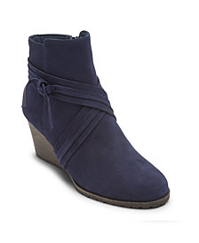 Rockport Women's Hollis X-Strap Wedge Booties