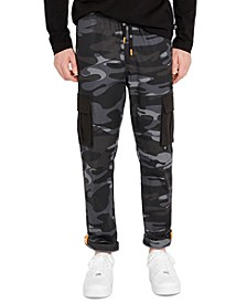 Men's Black Camo Cargo Pants