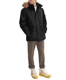 Men's Jacob Parka with Removable Hood & Faux Fur Trim