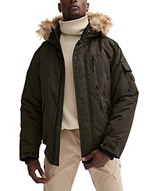 Men's Max Bomber with Fixed Hood & Removable Faux Fur