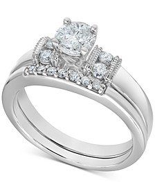 Diamond Bridal Set (1/2 ct. t.w.) in 14k White Gold