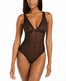 Calvin Klein Sheer Flocked Heart Bodysuit
