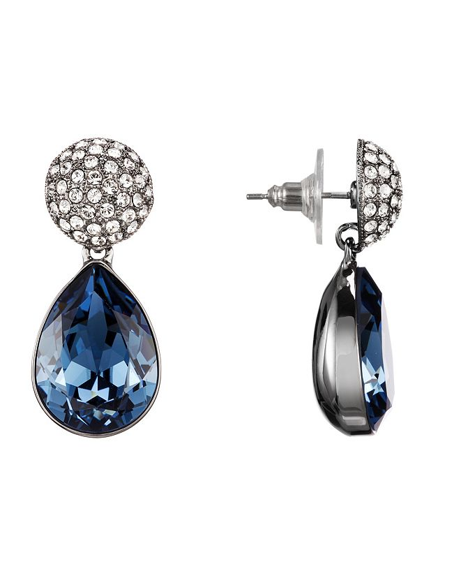 Nina Pave Pear Earrings