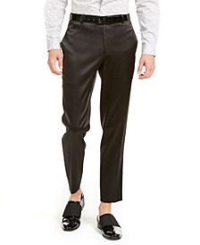 INC Men's ONYX Slim-Fit Embroidered Tuxedo Pants, Created For Macy's