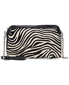 Zebra Haircalf Chambery Double Zip Crossbody