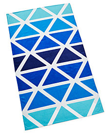 CLOSEOUT! Martha Stewart Collection Ombre Triangle Beach Towel, Created for Macy's