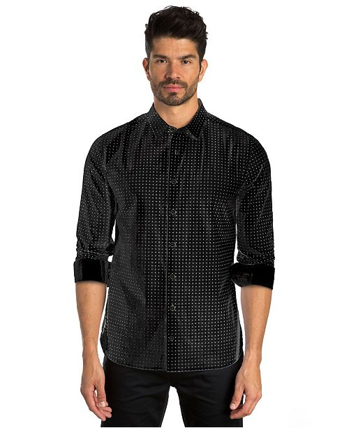 Jared Lang Dot Print Long Sleeve Sport Shirt