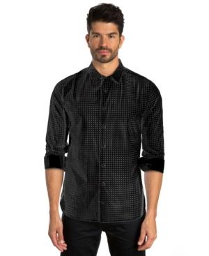 Dot Print Long Sleeve Sport Shirt