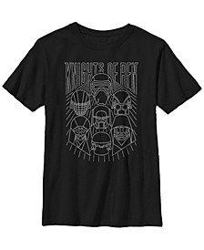 Big Boys Knights of Ren Line Art Short Sleeve T-Shirt
