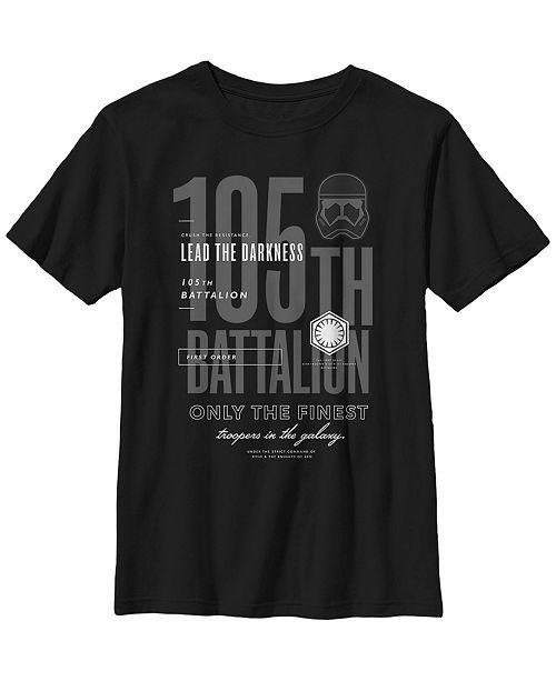 Star Wars Big Boys 105th Battalion Lead The Darkness Short Sleeve T-Shirt