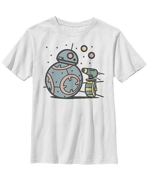 Star Wars Big Boys Pastel BB-8 and D-O Droid Buds Short Sleeve T-Shirt