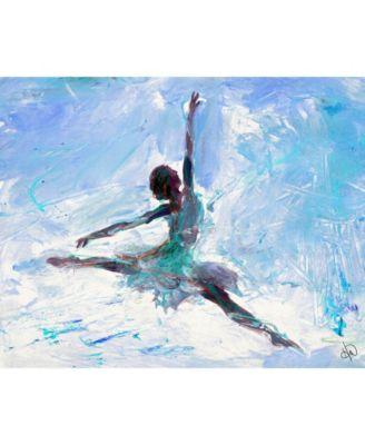 Grande Jete Ballerina in Blue Abstract 24