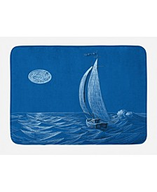 Sailboat Nautical Bath Mat