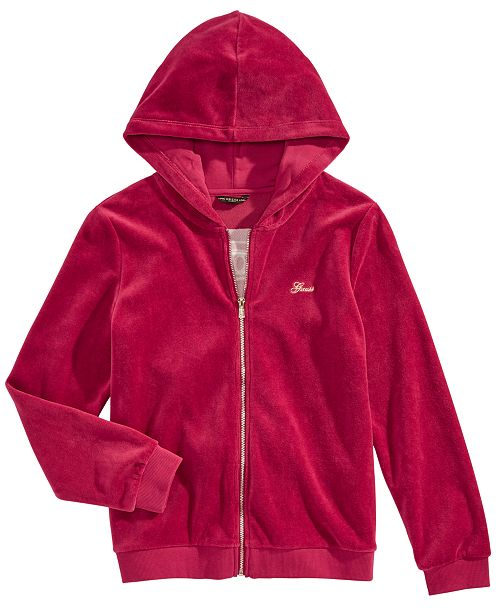 GUESS Big Girls Velour Active Hoodie