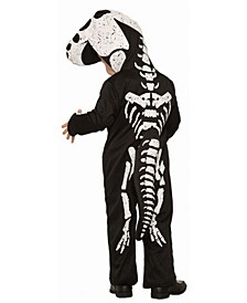 Toddler Girls and Boys Deluxe Dinosaur Bones Deluxe Costume