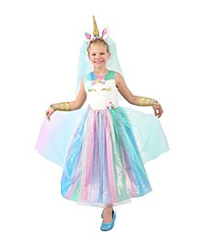 Big Girls Lovely Lady Unicorn Costume