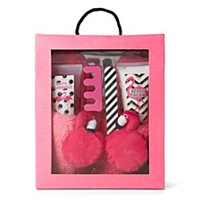 Women's 5pc Slipper Gift Set, Online Only
