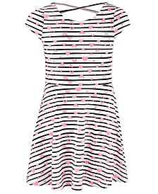 Little Girls Stripes & Hearts Dress, Created For Macy's