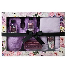 Women's Lila Grace Wrap And Slipper 5pc Set, Online Only
