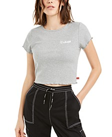 Junior's Cropped Cotton Baby T-Shirt
