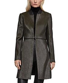 Metallic Convertible Coat